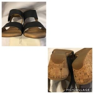 Rockport Shoes - Rockport • Calia Black Mid Wedge Cuff Sandal
